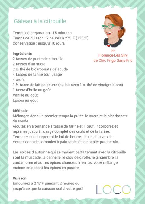 Recette | Gâteau à la citrouille par Florence-Léa Siry