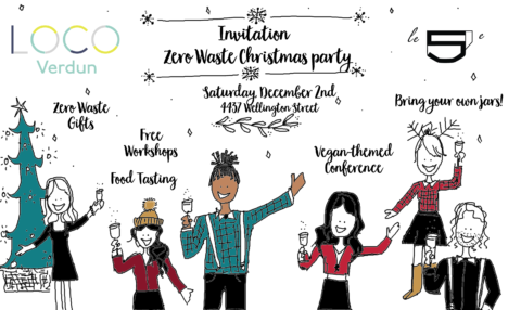 Zero Waste Christmas Party in Verdun by LOCO and Le 5e